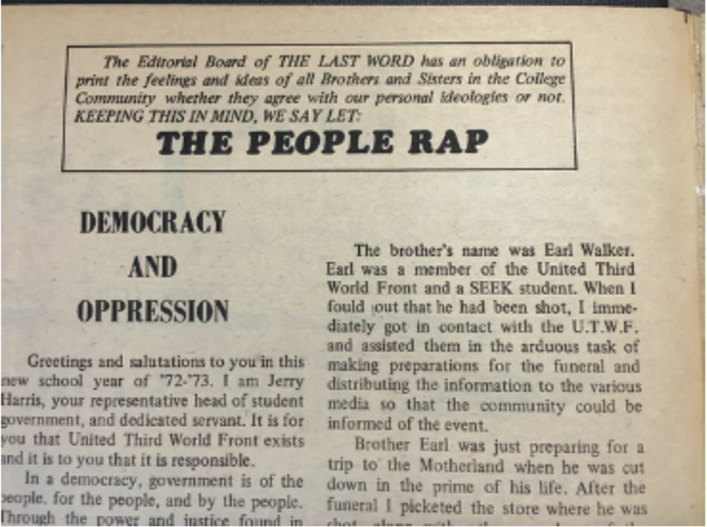 Letting the People Rap: A Research Reflection